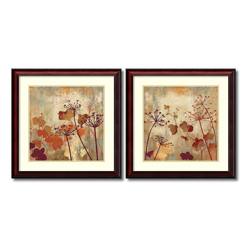 Amanti Art Wild Field Floral 2 Piece Framed Wall Art Set