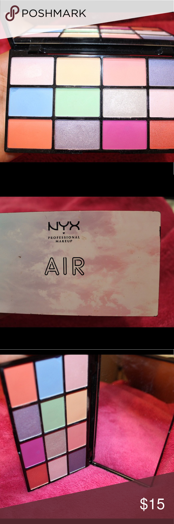 NYX AIR EYESHADOW PALETTE Gently used NYX AIR Palette