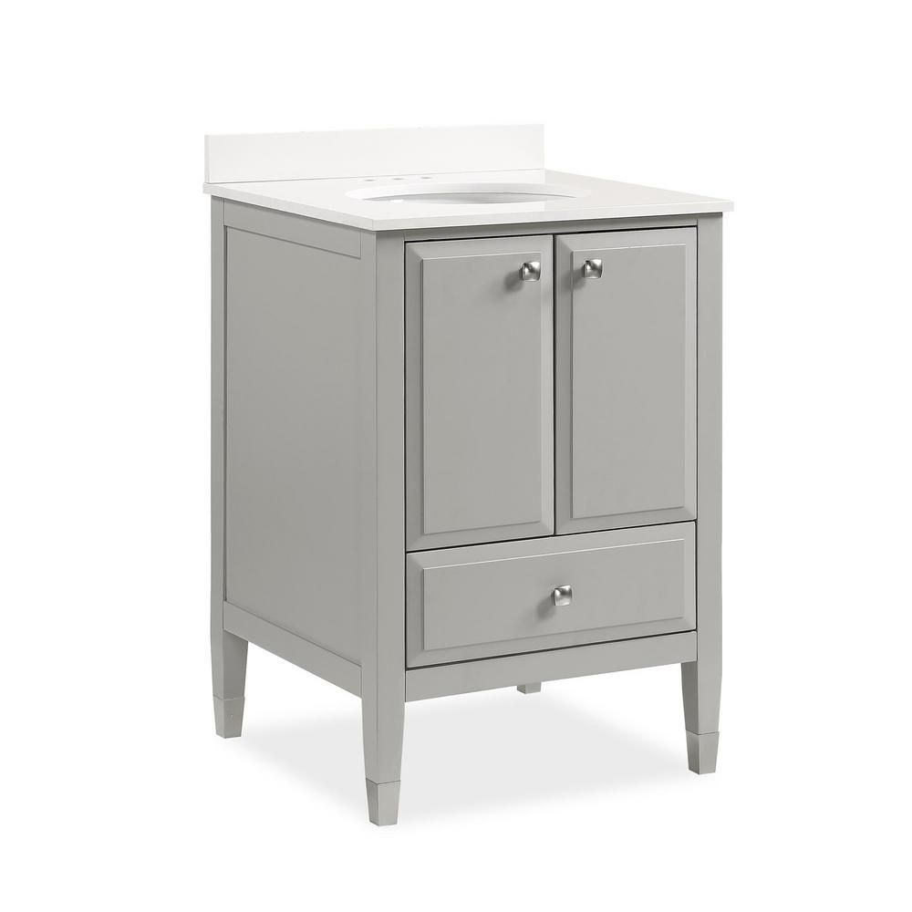 Dorel living tricia 24 in bathroom vanity in gray w