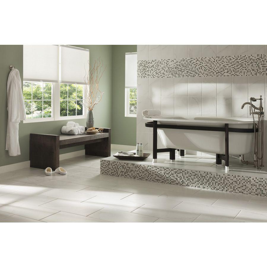 Shop 7 Pack Calacatta White Glazed Porcelain Floor Tile Common 12