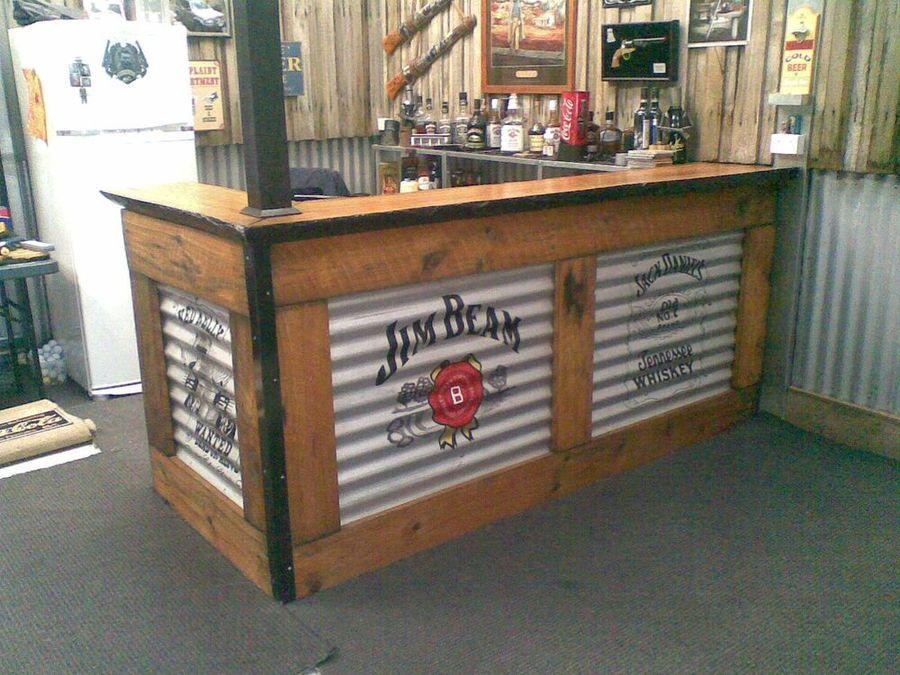 Best Corrugated Metal Backyard Bar Man Cave Bar Garage Bar 400 x 300