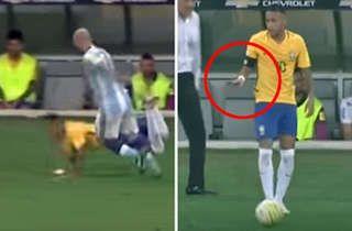 ¡Calmate, Masche!  En el segundo tiempo a la Selección le salió todo mal y se notó en las actitudes de los jugadores. Un momento tenso fue cuando Mascherano sacudió... http://sientemendoza.com/2016/11/12/calmate-masche/