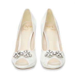 No 1 Jenny Packham Designer Ivory Lace And Jewel Trim High Court