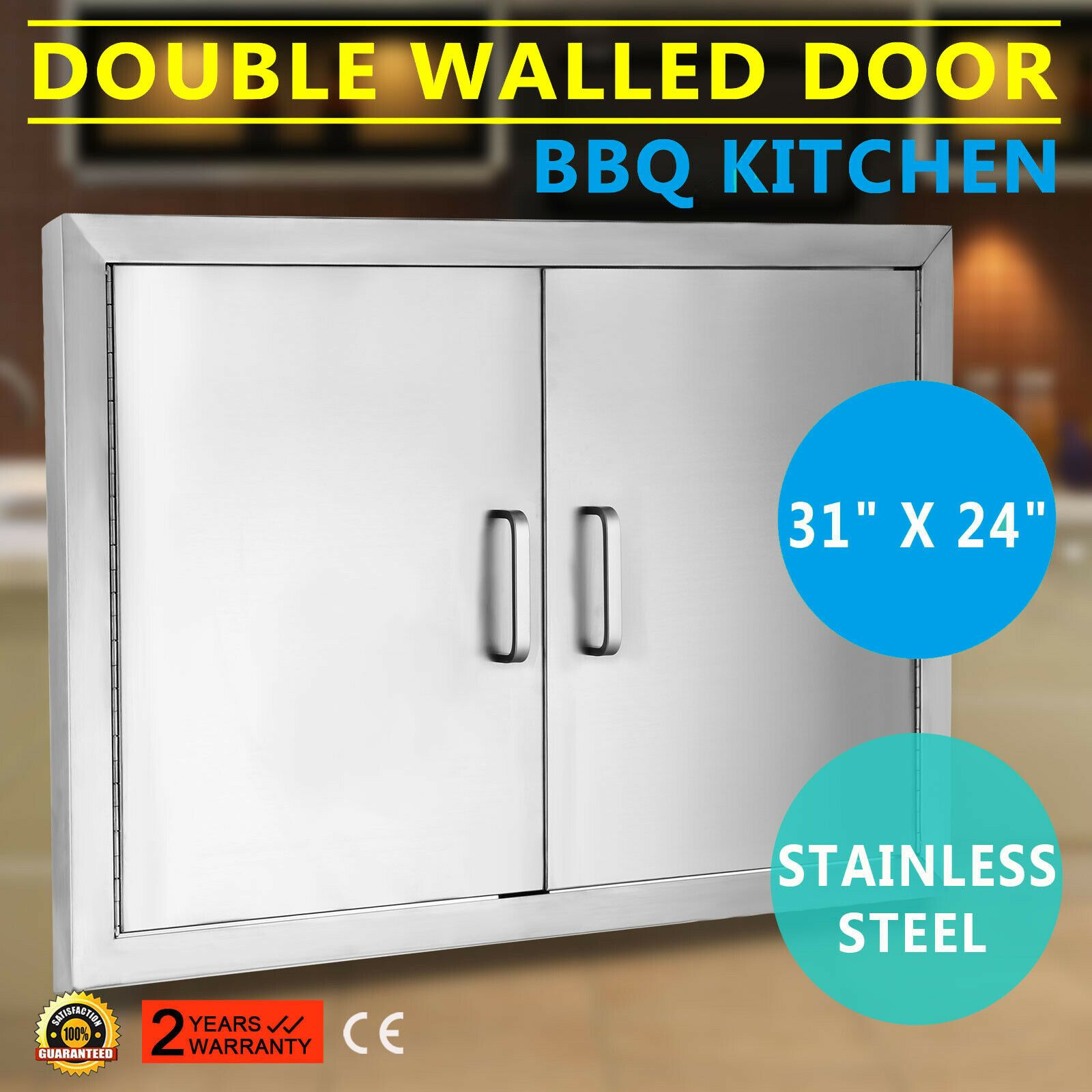 Outdoor Kitchen Bbq Island 304 Stainless Steel Double Access Door 31 Usa In 2020 With Images Vertical Storage Bbq Island Storage