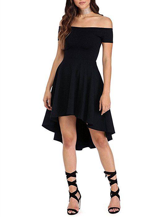 Vestido negro mujer corto