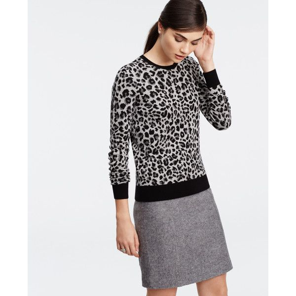 Ann Taylor Leopard Print Sweater ($75) ❤ liked on Polyvore ...