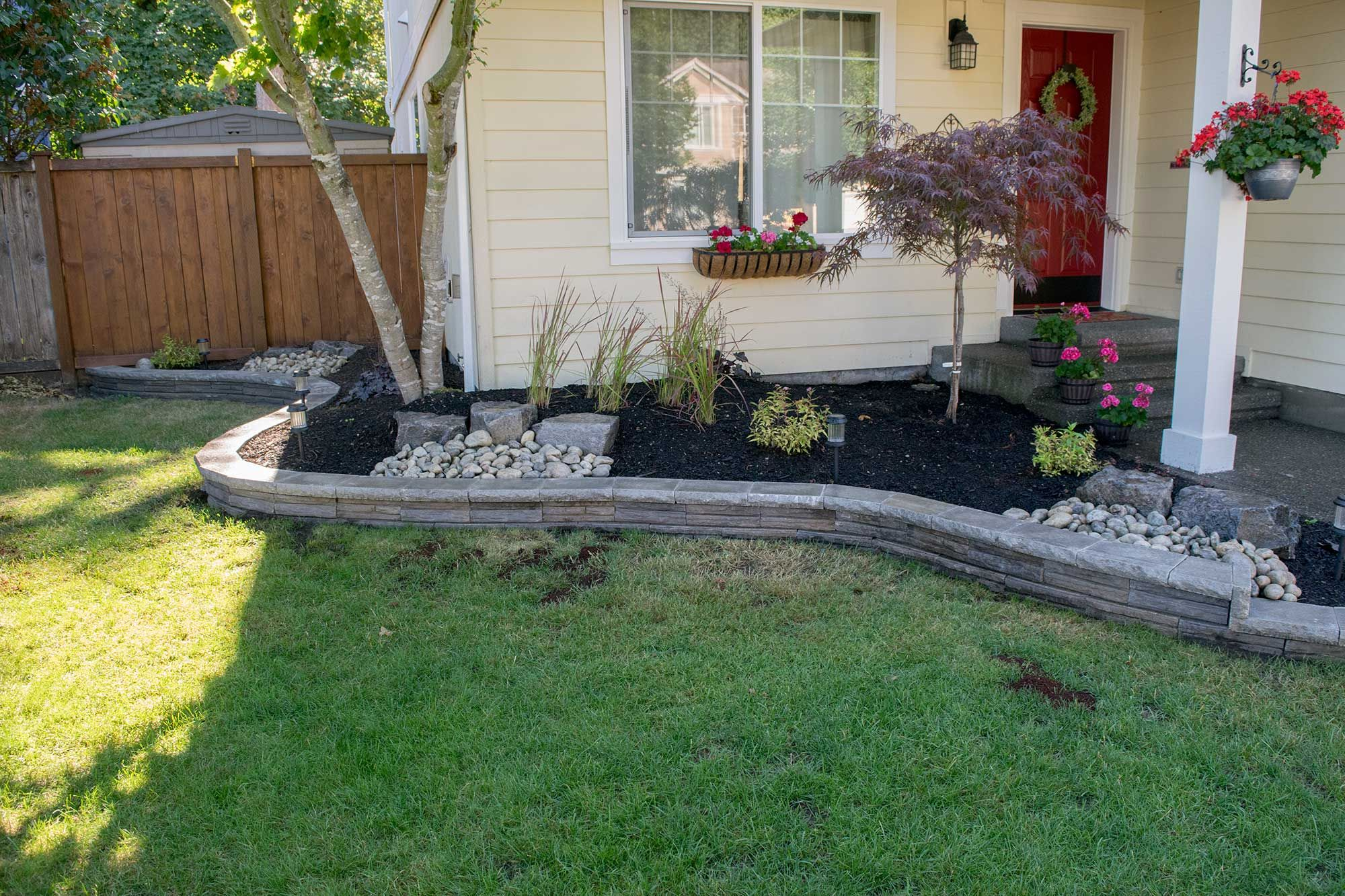 Thurston County Landscaping Beds And Fire Pit Backyard