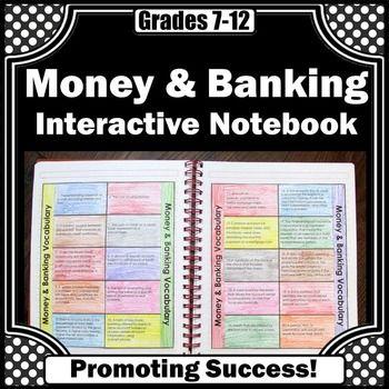 Financial Literacy Vocabulary Money