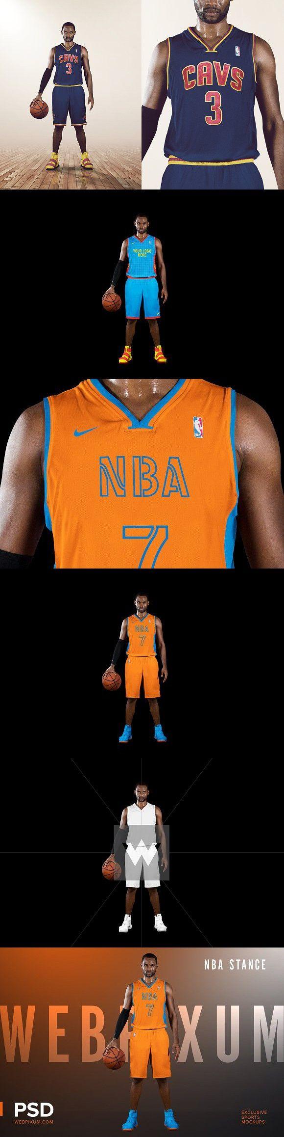 NBA Stance Mockup Template Templates, Mockup template