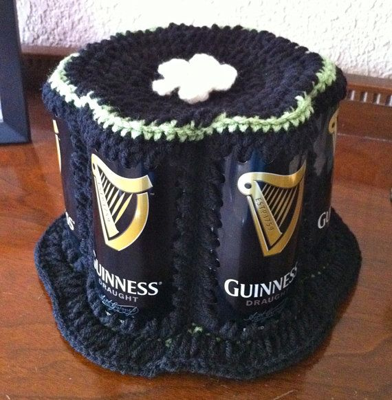 a25e1f55306 Crocheted Beer Can Hat Guinness bucket style by TheCanHattery. Matt s quite  the hatter! We sell his hats at 99 Bottles.