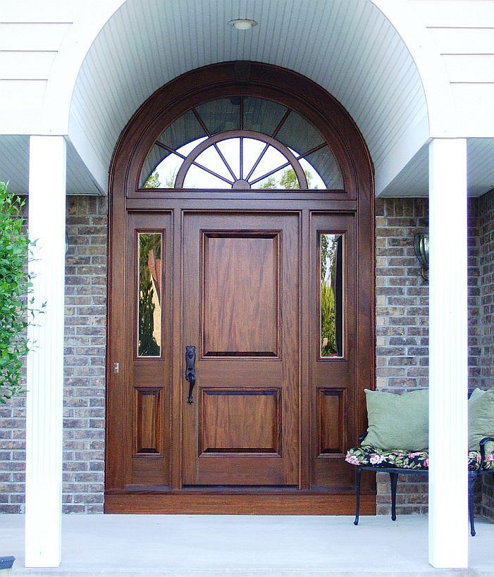 Single Doors W Sidelites Transom Custom Wood Single Sidelites Transom Panel Lite Su Main Door Design Hotel Doors Design Front Door Ideas Brick House