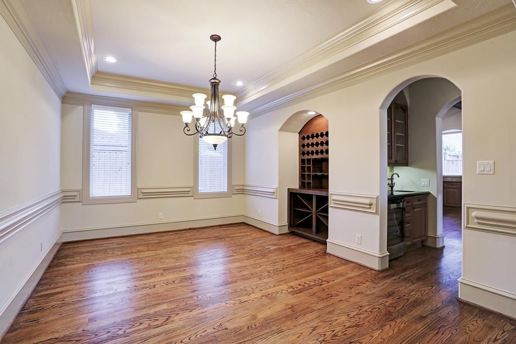 6242 overbrook elegant formal dining room features