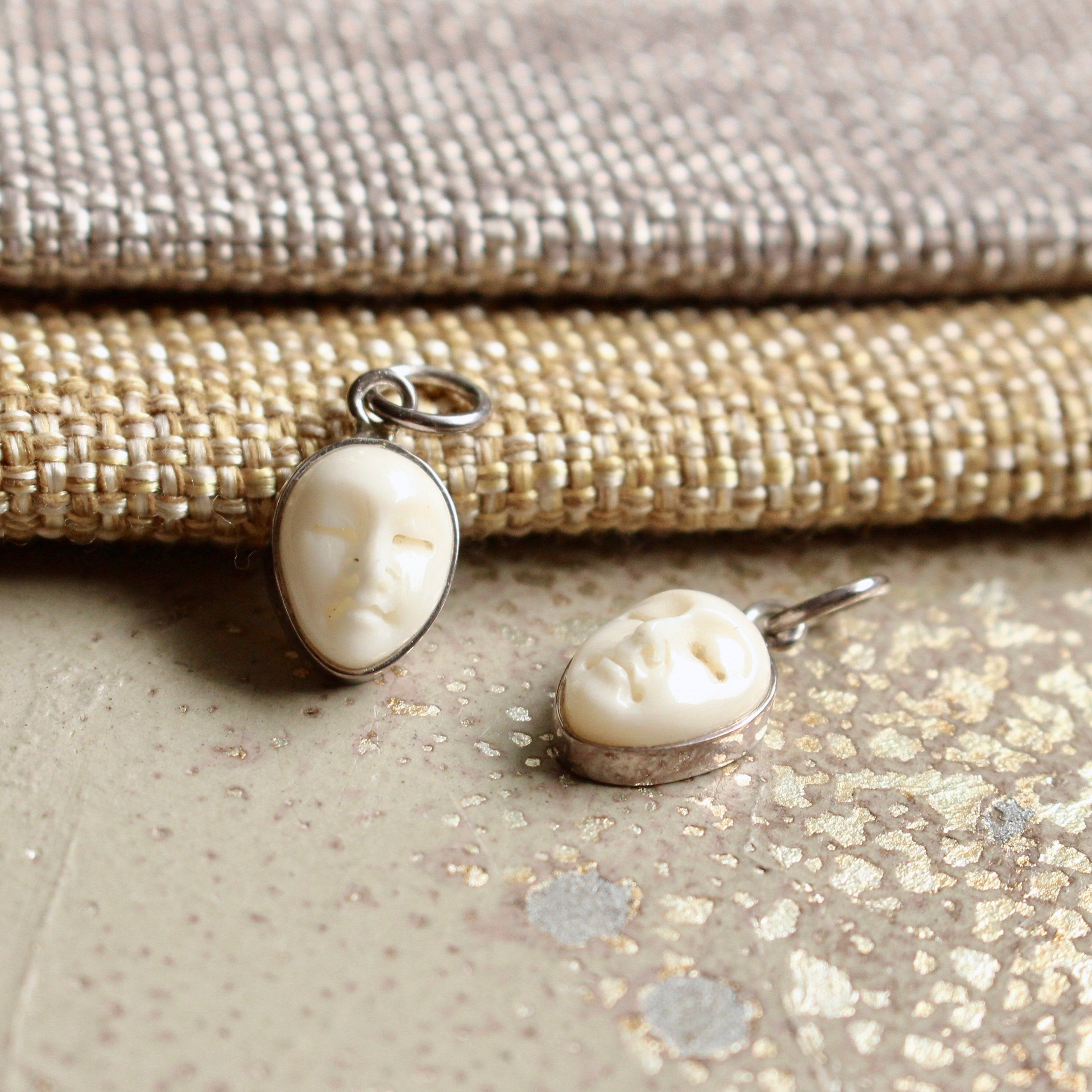 Tiny Carved Bone Moon Face Charm Goddess Charm Bone Carving Moonface Charm Sleeping Buddha Yoga Jewelry Boho Bs18 0621a Yoga Jewelry Boho Yoga Jewelry Diy Jewelry Making Supplies