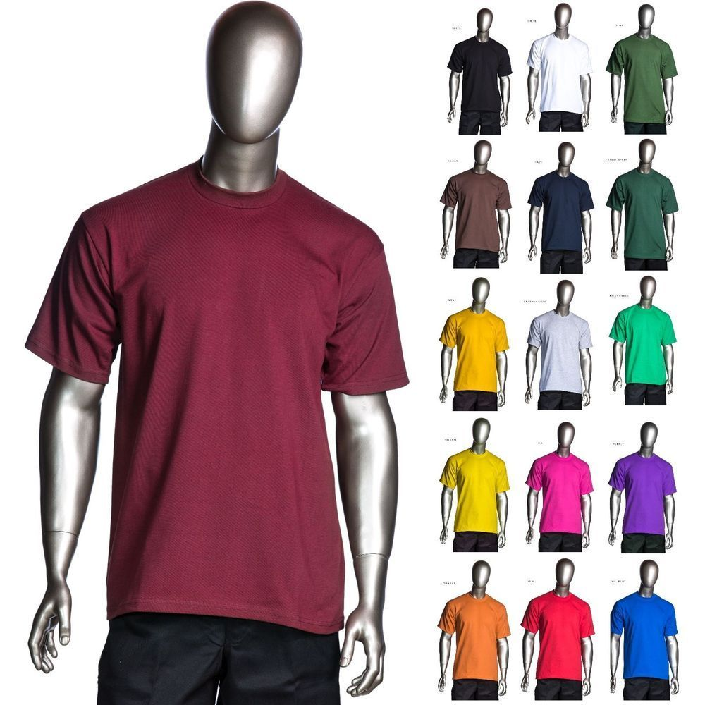 Image of Pro Club - Heavyweight Short-Sleeve Tee Crew Neck Plain T-Shirts