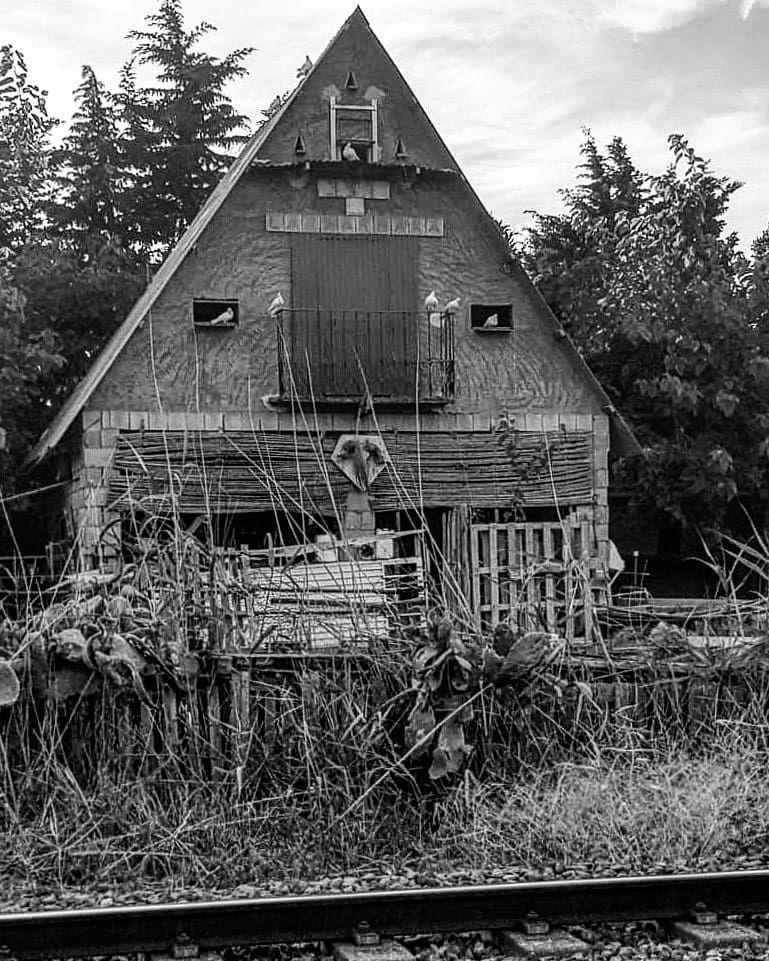 Like a Twin Peaks place. #twinpeaks #blackandwhite #pic #pictures #photos #photography #blancoynegro #fotodeldía #fotos #twinpeaksart #callosadesegura #spain #mistery #corners #instapic #instagram #house #houses #casas
