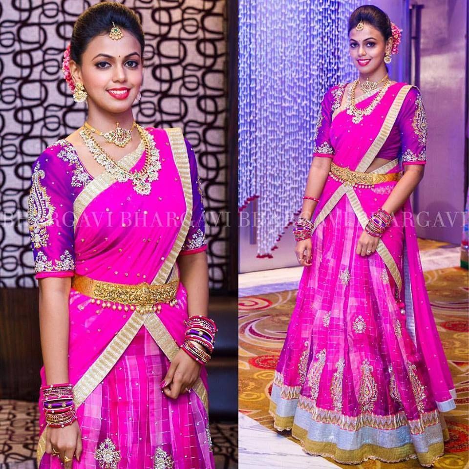 Half saree blouse design pin by apeksha p on traditional  pinterest  saree half saree and
