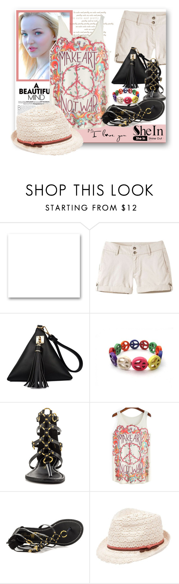 """""""SheIn-Multicolor Floral Top"""" by samketina ❤ liked on Polyvore featuring St. John, Mountain Khakis, Penny Loves Kenny and Charlotte Russe"""