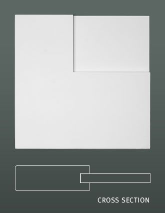 Door Profile Image Square Stick Flat Panel Two Panel Doors