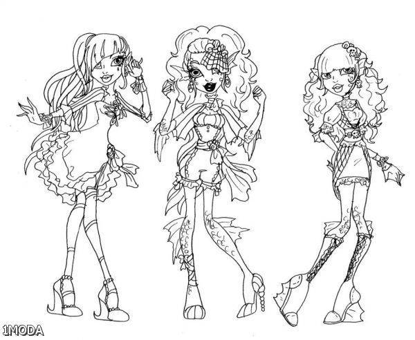Monster High Coloring Pages Freaky Fusion 2015 2016