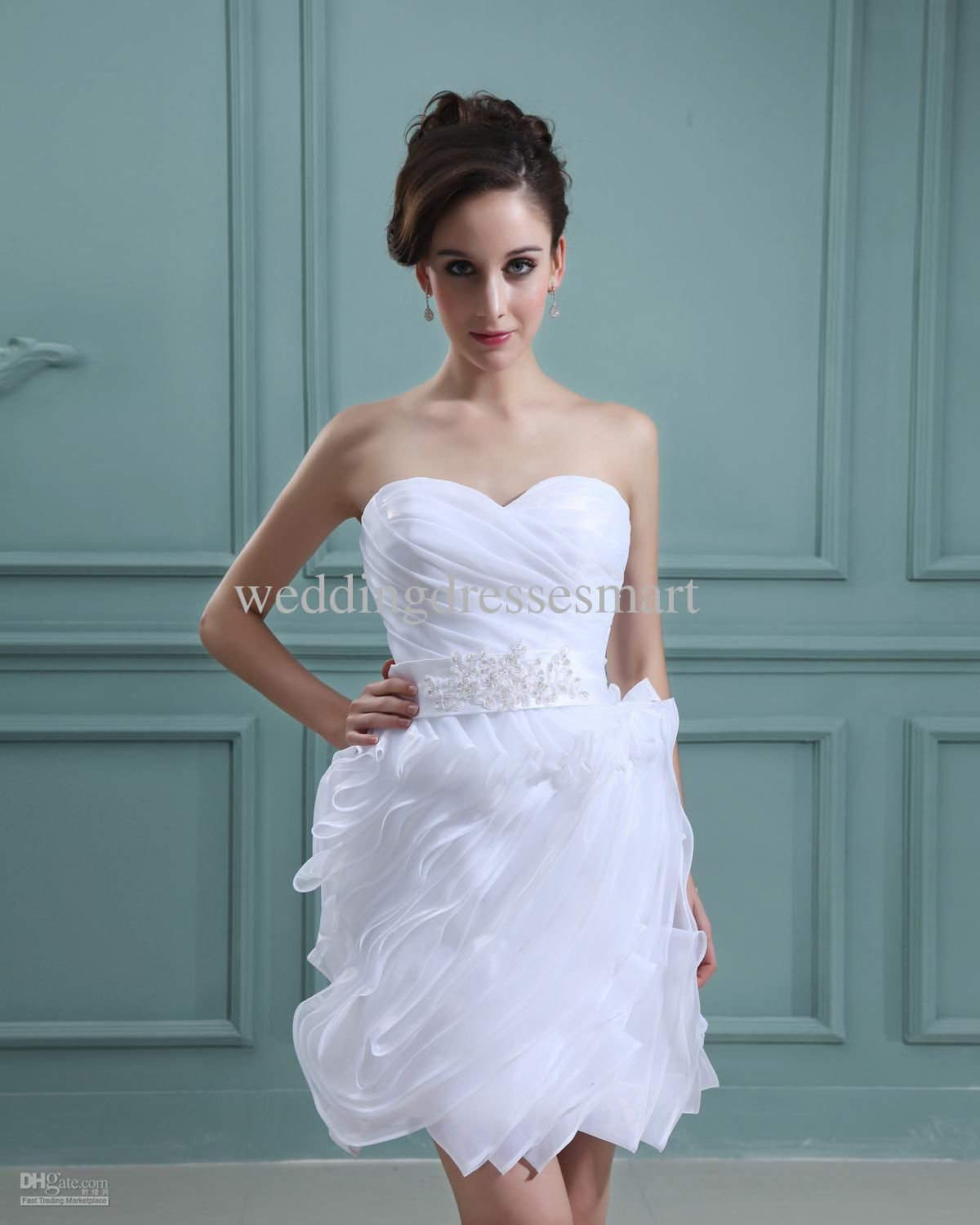 Mini white wedding dress  Short White Wedding Dresses  Wedding Dresses for Guests Check more