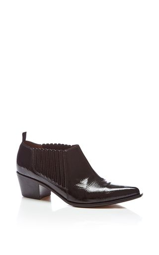 Patent Leather Low Ankle Boot by SONIA RYKIEL for Preorder on Moda Operandi