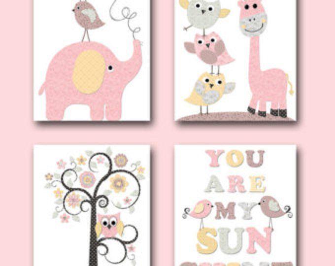 Baby Mädchen Kinderzimmer Angebote Kids Wall Art Kinder Kunst   Etsy