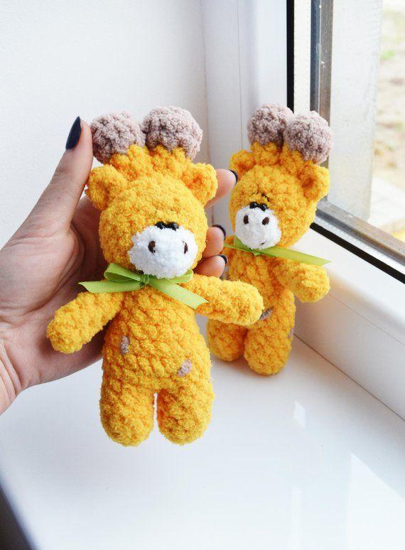 Small Giraffe Toy Yellow Giraffe Plush Giraffe Stuffed Animal