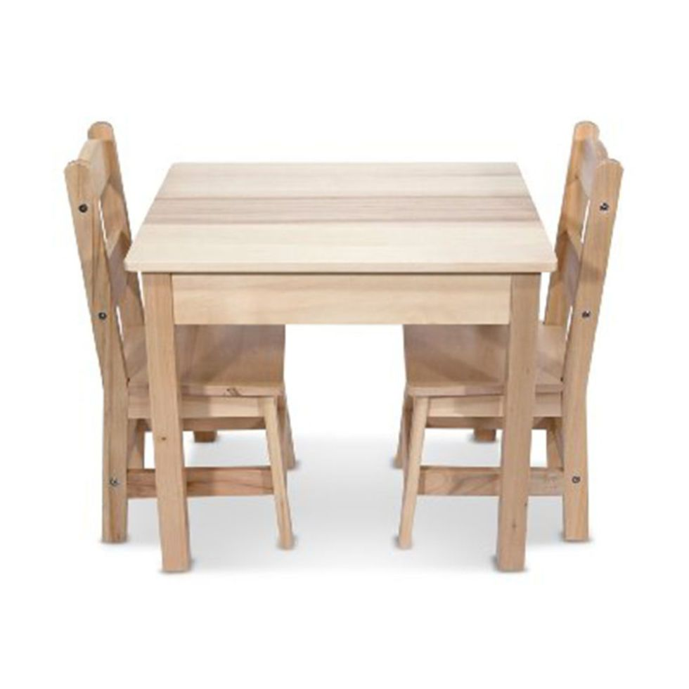 Solid Wood Childrens Table And Chairs Wwe Tables 14 Pint Size Chair Sets Your Kids Will Love Kid S Melissa Doug Wooden 2 Set