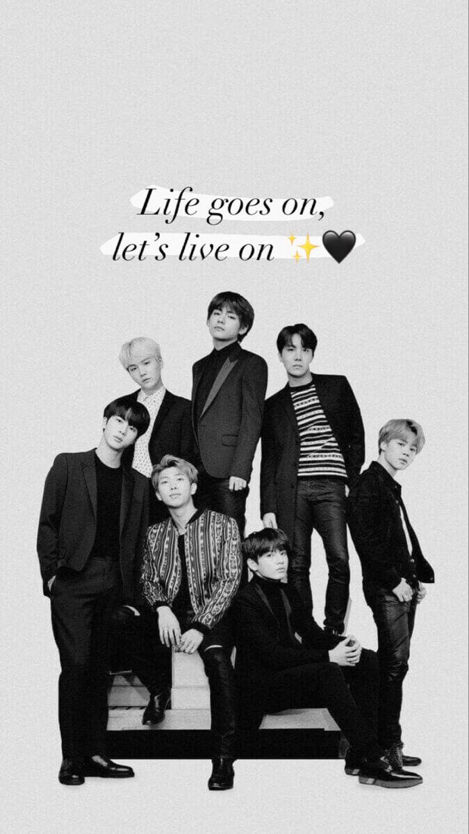 Bts Life Goes On Let S Live On B W Wallpaper Bts Book Life Goes On Bts Scenarios Bts wallpaper life goes on