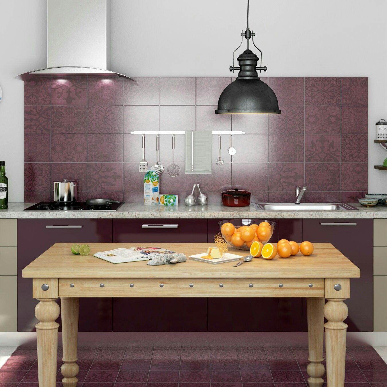 Violet reign in this vibrant kitchen. | Kitchen design ...