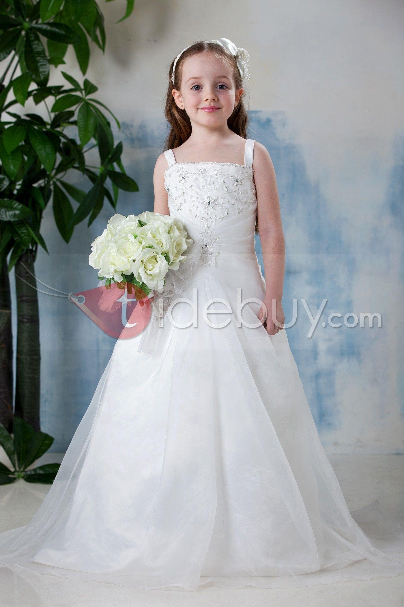 0ccf45164 A-Line Square Neckline Floor- Length Flower Girl Dress : Tidebuy.com
