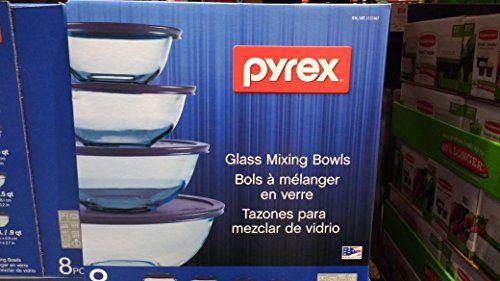 Pyrex 8pc mixing bowl set (blue) Pyrex https://www.amazon.com/dp ...