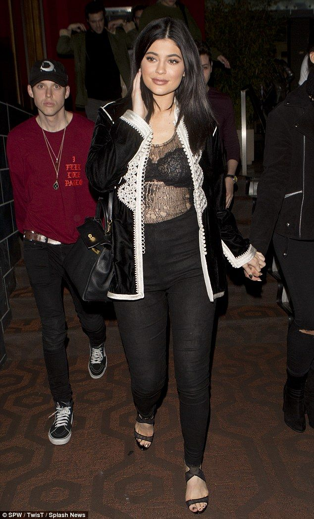 Kylie Jenner See Through Top