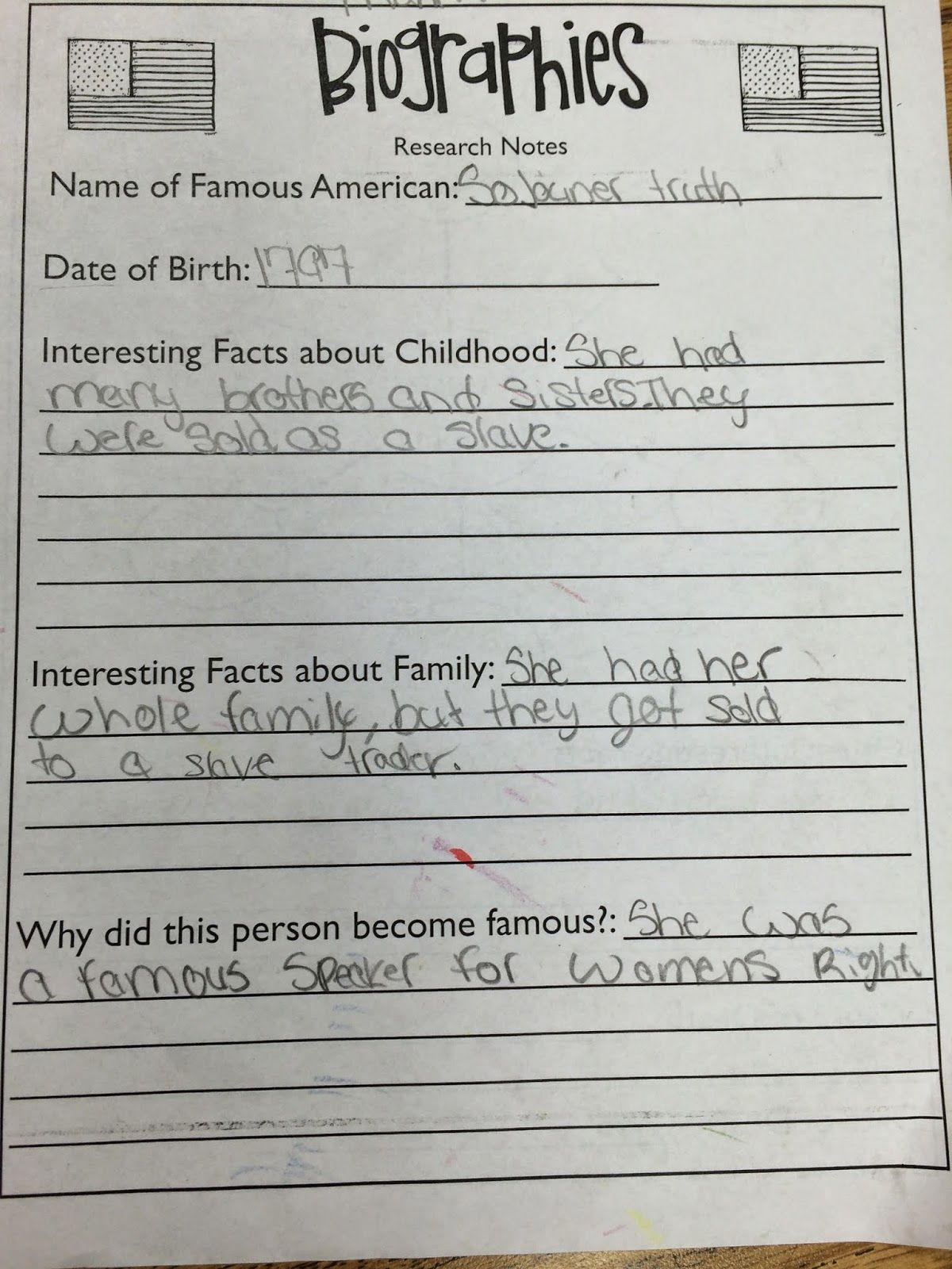 Workshop Wednesday Writing Biographies