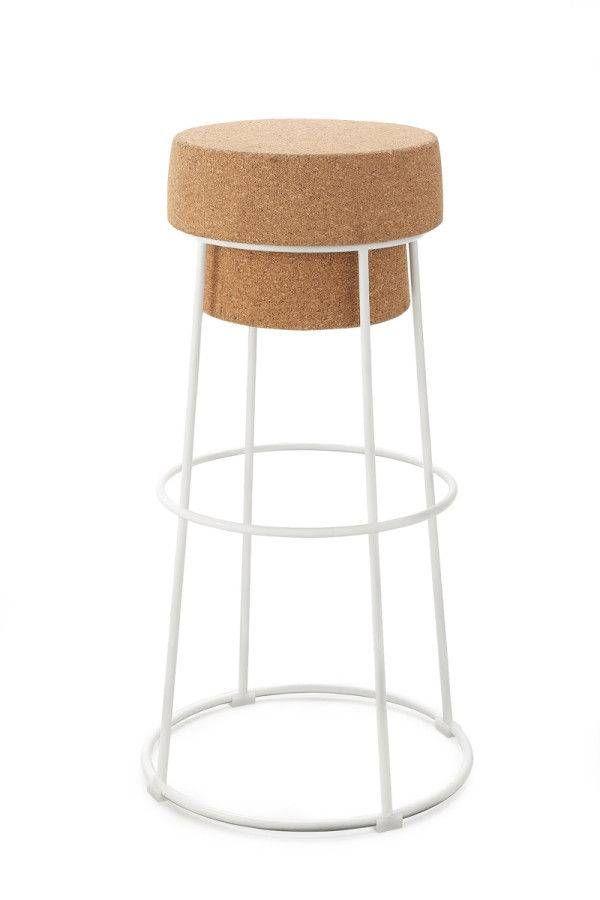 tabouret bouchon d 39 objects pinterest cork stools. Black Bedroom Furniture Sets. Home Design Ideas