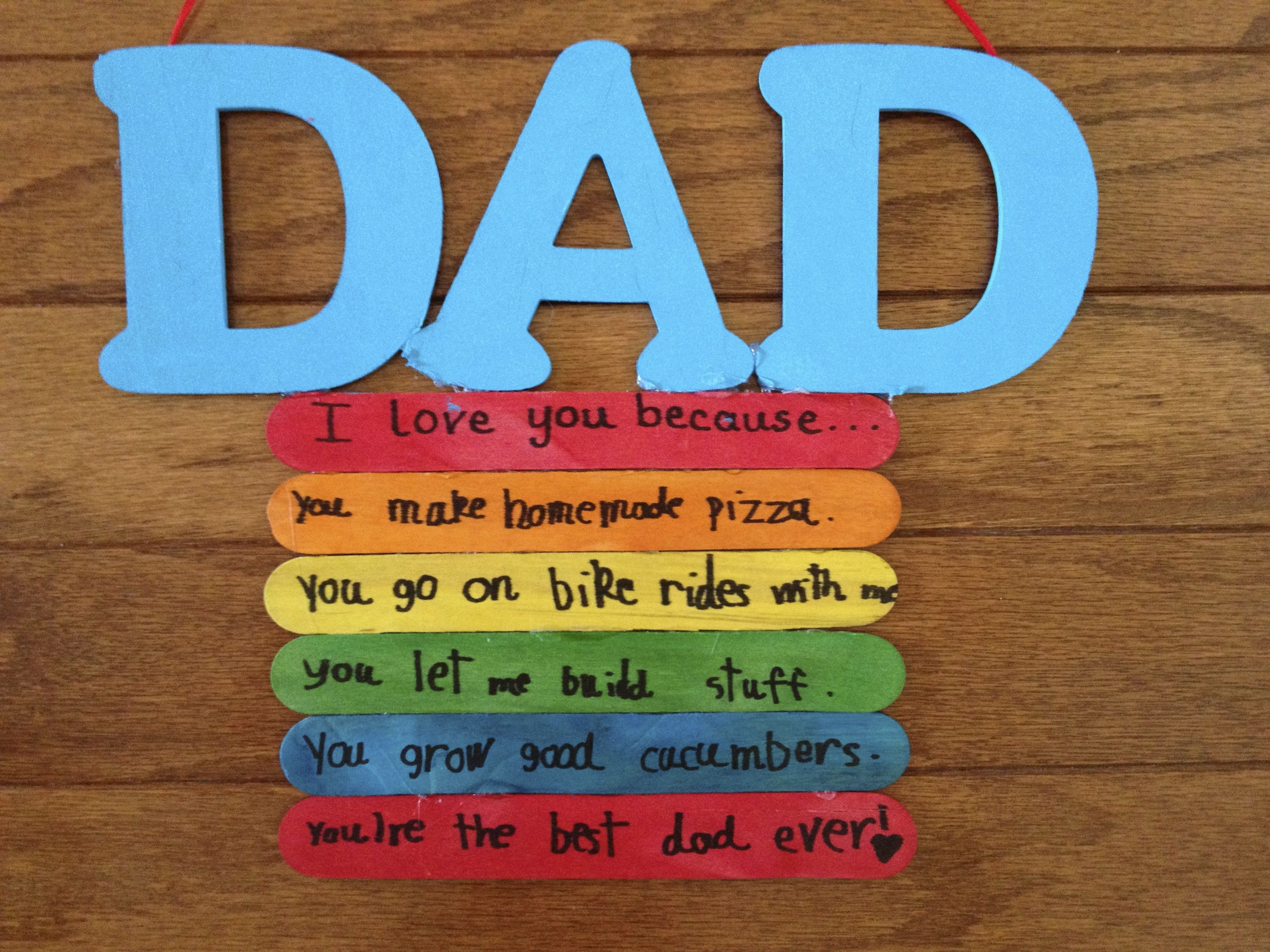 Donna Martin Created This Easy DIY Fathers Day Gift With Wooden Letters And Extra Wide Craft Sticks An Way To Show Dad Just How Great He Is