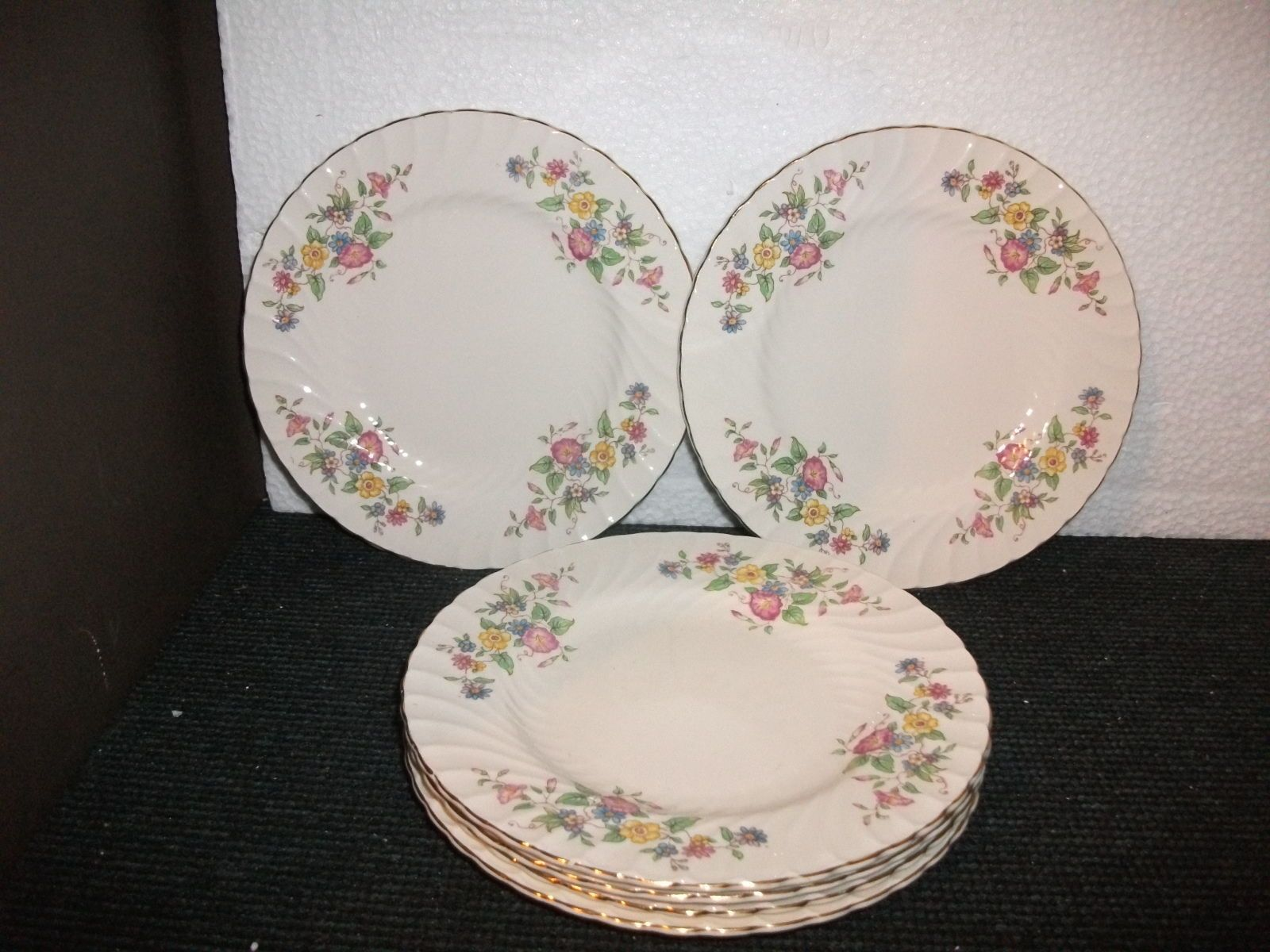 Royal albert bone china tea cup amp saucer winsome pattern ebay - 1940s Burleigh Ware Floral Pattern 18cm Dia Plates X 6 Burgess Leigh