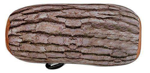 Tache Brown Log Cylinder Micro Bead Pillow Cushion Throw, 15x7