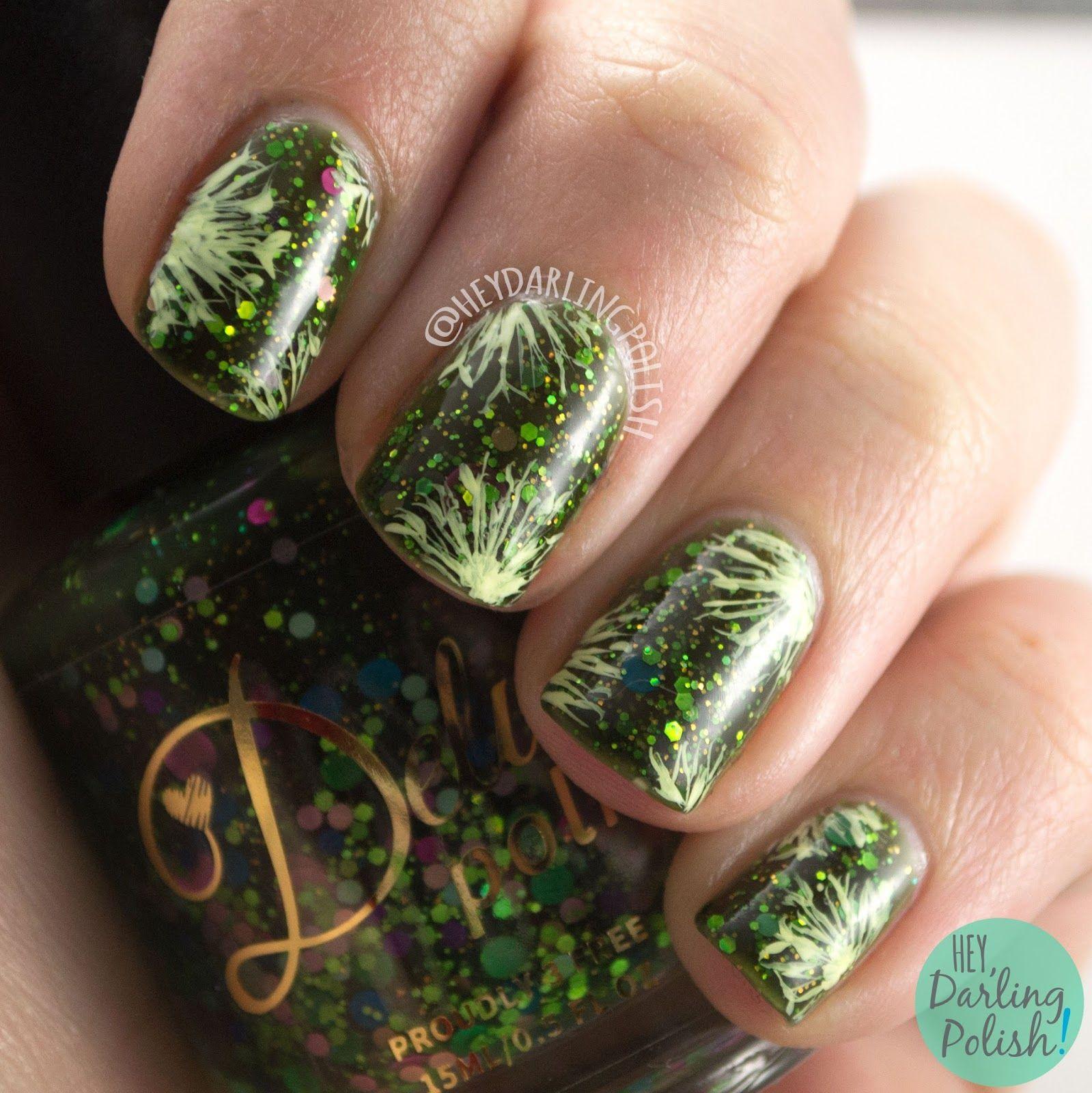 Hey darling polish day challenge green base repin nail