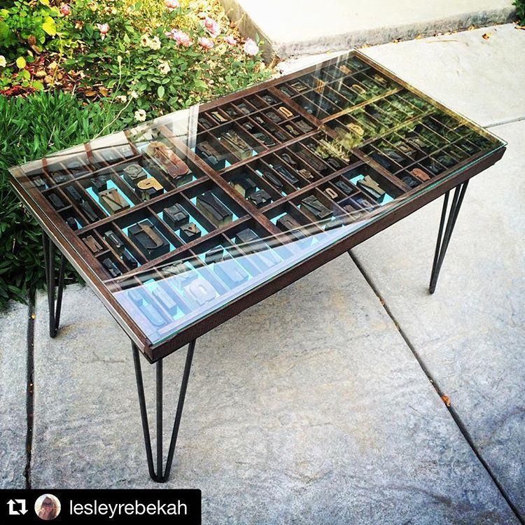 Repost Lesleyrebekah With Repostapp It S Done Printingpressletters Typecase Coffeetable Shadow Box Table Shadow Box Coffee Table Letterpress Drawer