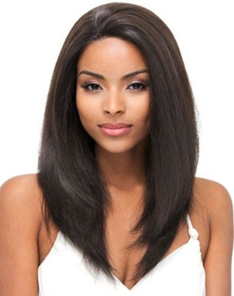 The Perfect Style for Black Girl Straight Hair : Simple ...