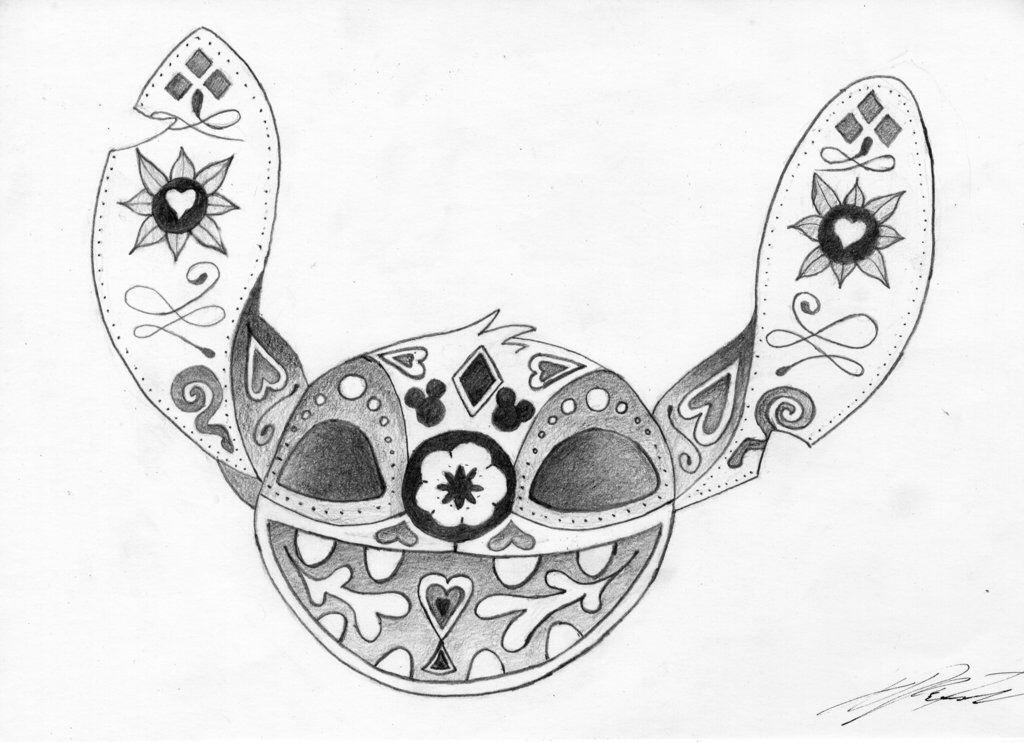 Stitch sugar skull by Skamoonie on @DeviantArt | Skull ...