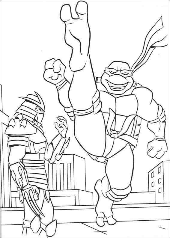 Ninja Turtles 1 Ausmalbilder für Kinder. Malvorlagen zum ...