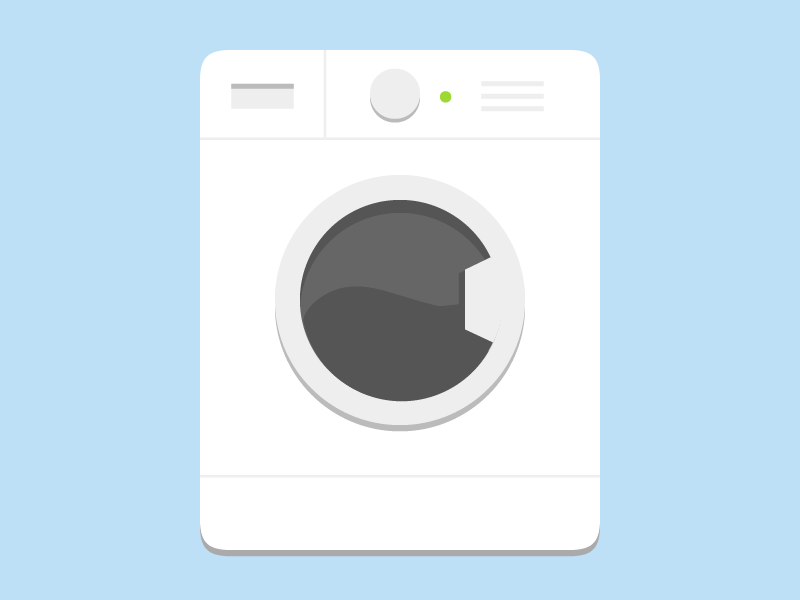 Washing Machine Flat Icon Laundry Logo Washing Machine Flat Icon