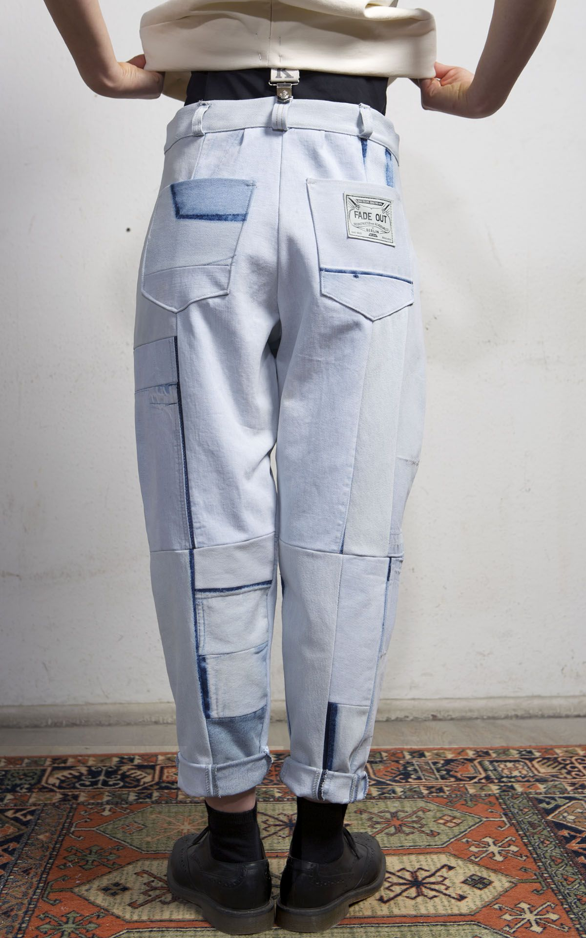 Cobalto Trousers Light Blue Fade Label
