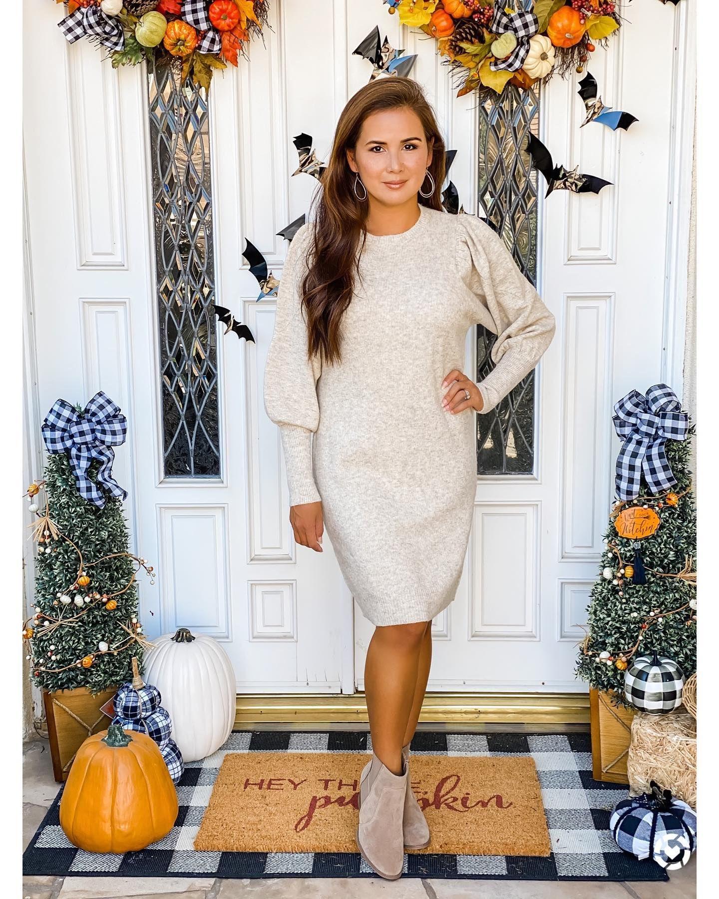 Targetstyle Dianabmattar Women Long Sleeve Dress Long Sleeve Sweater Dress Sweater Dress [ 1800 x 1440 Pixel ]