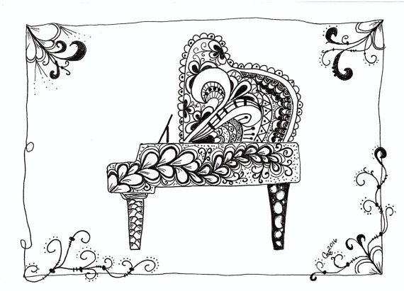 Zentangle Musical Instruments (With images) | Music ...