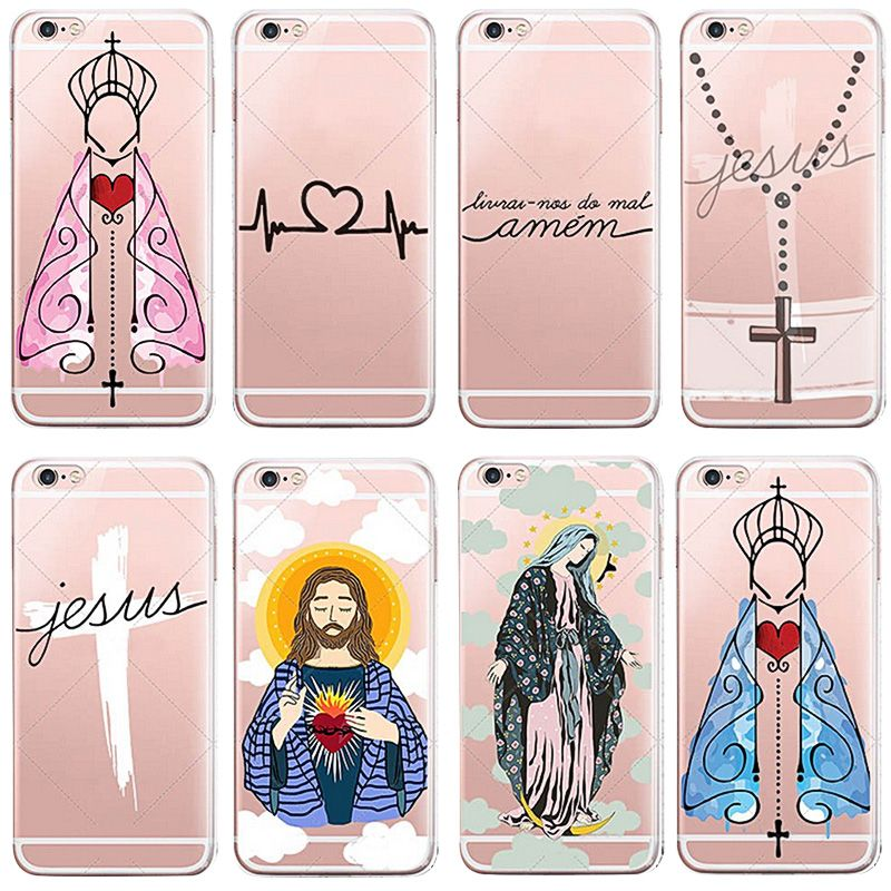 OWNEST Amen Jesus Cruz Amor Design Cases Cover For iphone 7 7 plus 6 6s 5 5s se for huawei P8 lite P9 lite Silicone Protective