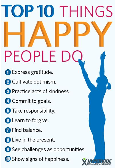 Here are the top 10 things happy people do. This is a must ...