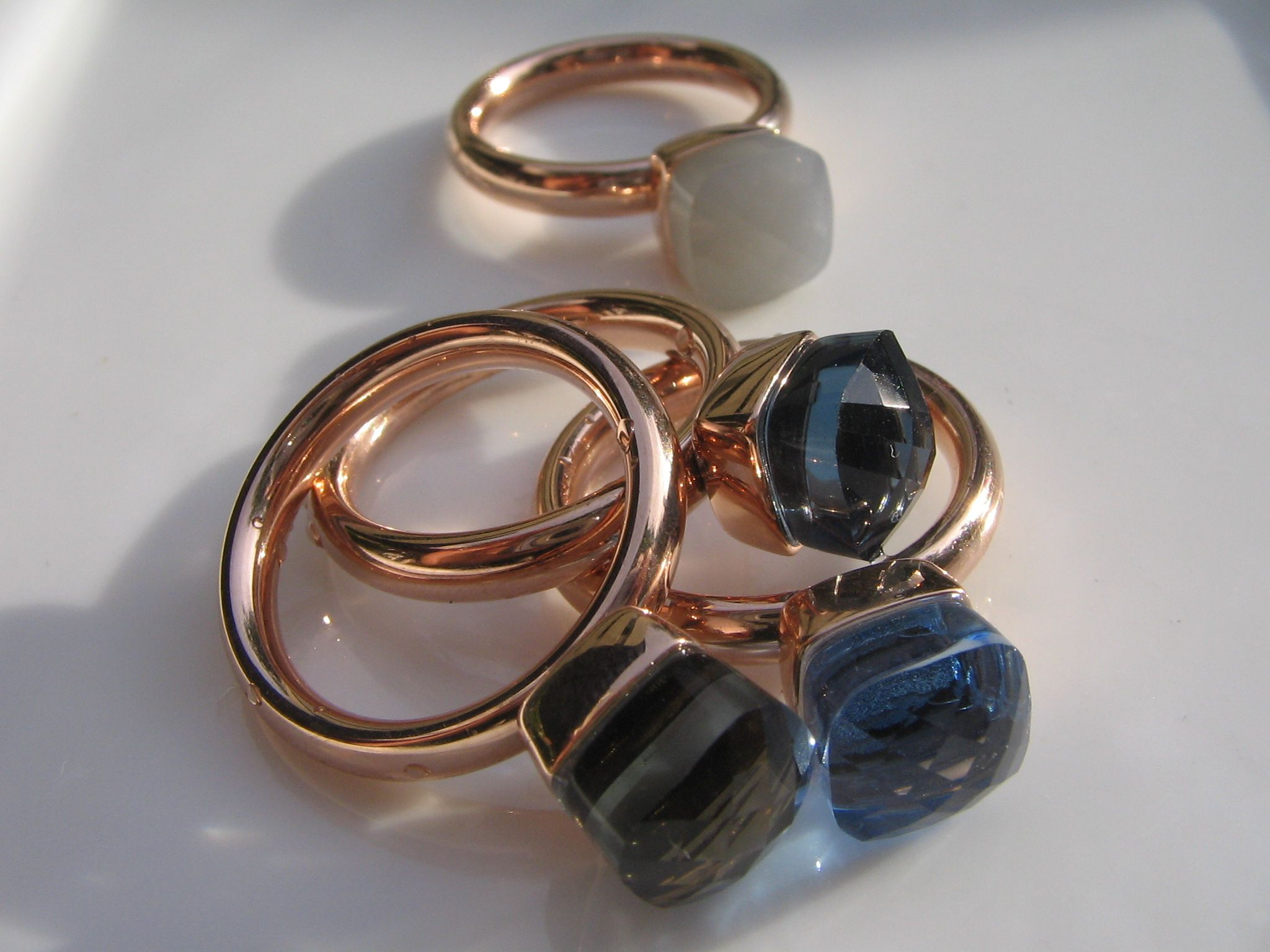 Qudo Ring FIRENZE SMALL Rosegold smoked topaz